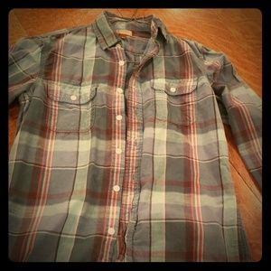 Green Plaid Sonoma Button Up size small